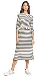 Current Elliott The Studio Dress White Dark Navy Stripe