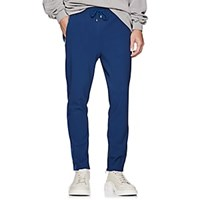 Filling Pieces Grosgrain Trimmed Tech Jersey Track Pants Blue