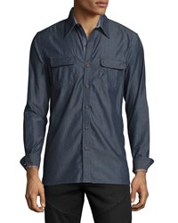 Robert Graham Brass Monkey Tailored Fit Sport Shirt Indigo