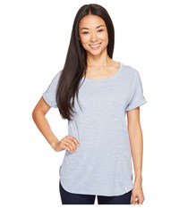 Columbia Crystal Point Short Sleeve Shirt Beacon Heather Women's Short Sleeve Pullover Blue
