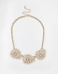 Oasis Flower Statement Necklace Multi