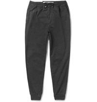 Mcq By Alexander Mcqueen Tapered Stretch Cotton Trousers Black
