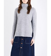 Moandco. Oversized Knitted Turtleneck Jumper Heather Grey