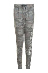 Topshop Camouflage Airforce Joggers By Tee And Cake Green