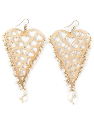 Natasha Zinko Heart Earrings Metallic