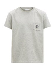 Schnayderman's Chest Pocket Cotton Jersey T Shirt Grey