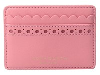 Tory Burch Block T Brogue Slim Card Case Cosmo Credit Card Wallet Pink