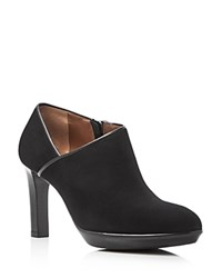 Aquatalia By Marvin K Rosia Weatherproof Leather High Heel Booties Black