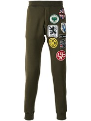 Dsquared2 Patch Detail Track Pants Green