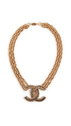 Wgaca What Goes Around Comes Around Chanel Gold Chain Cc Necklace