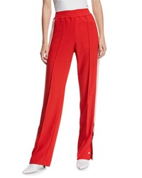 Pinko Snap Up Racer Stripe Track Pants Red