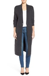 Women's Halogen One Button Long Cardigan Heather Charcoal
