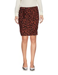 Maison Scotch Mini Skirts Rust