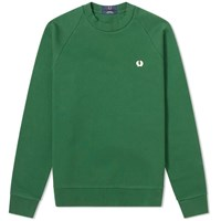 Fred Perry Winter Training Crew Sweat Green