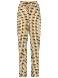 Andrea Marques Printed Drawstring Pants White