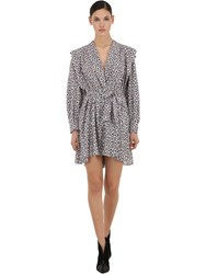 Isabel Marant Printed And Ruched Silk Mini Dress Array 0X5958350