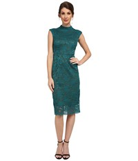 Kut From The Kloth Kiera Lace Midi Dress Teal Dark Olive Women's Dress Green
