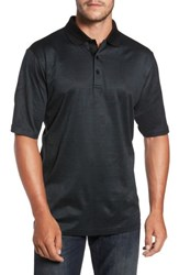 Bugatchi Men's Classic Fit Jacquard Polo Charcoal