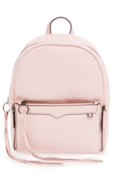 Rebecca Minkoff 'Lola' Backpack With Detachable Crossbody Pink Pale Blush Gunmetal Hrdwr