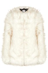 A Perdifiato Maria Faux Fur Coat White