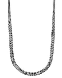 John Hardy Classic Chain Silver Graduated Necklace 36 L