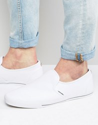 Jack And Jones Snake Slip On Plimsolls White