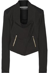 Roland Mouret Mensa Basketweave Cotton Blend Biker Jacket
