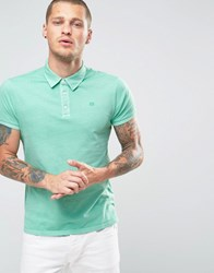 Scotch And Soda Dyed Polo Shirt Green