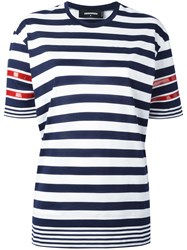 Dsquared2 Layered Stripe T Shirt Blue