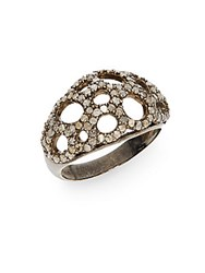 Bavna 1.08 Tcw Champagne Diamond And Sterling Silver Ring