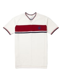 Sik Silk Siksilk Retro Zip Pique Polo White