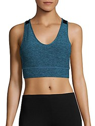 Nanette Lepore Heathered Sports Bra Caneel Bay