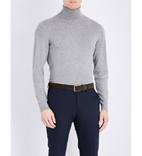 Ralph Lauren Purple Label Turtleneck Cashmere Jumper Navy
