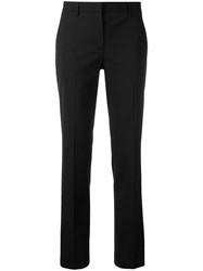Theory Tailored Cropped Trousers Black