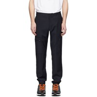 Paul Smith Ps By Navy Wool Cargo Pants