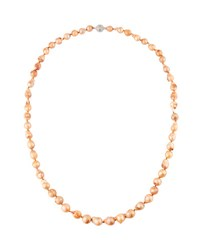 Kenneth Jay Lane Baroque Freshwater Pearl Necklace Multi