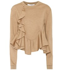 Givenchy Wool Jersey Top Beige