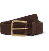 Anderson And Sheppard 3.5Cm Brown Nubuck Belt Brown