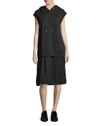 Public School Allison Cap Sleeve Hoodie Dress Black