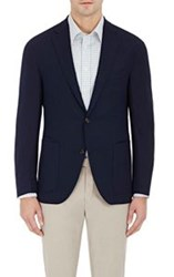 Luciano Barbera Pique Two Button Sportcoat Blue