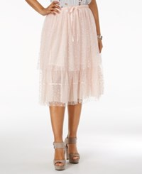 Guess Belladonna Tiered Lace Skirt Pale Dogwood