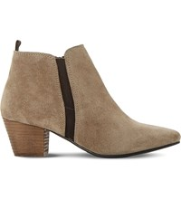 Dune Perdy Suede Ankle Boots Taupe Suede