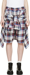 R 13 Red And Blue Plaid Vedder Shorts
