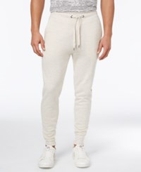 Guess Men's Lux Brushed Terry Joggers Sandy Stone Heather