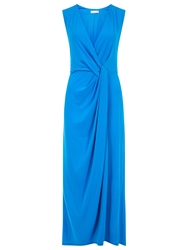 Planet Draped Maxi Dress Azure
