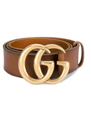 Gucci Leather Logo Belt Brown