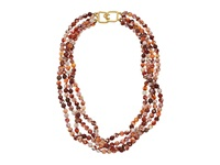 Kenneth Jay Lane Beaded Necklace Carnelian Agate Necklace Red