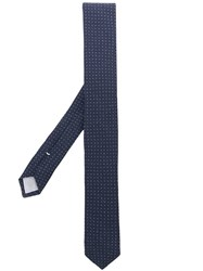 Eleventy Micro Dotted Tie Blue