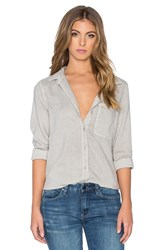 Bella Dahl Shirt Tail Button Up Gray