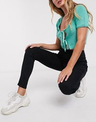 Urban Bliss Super Stretch Pull On Skinny Jeans In Black